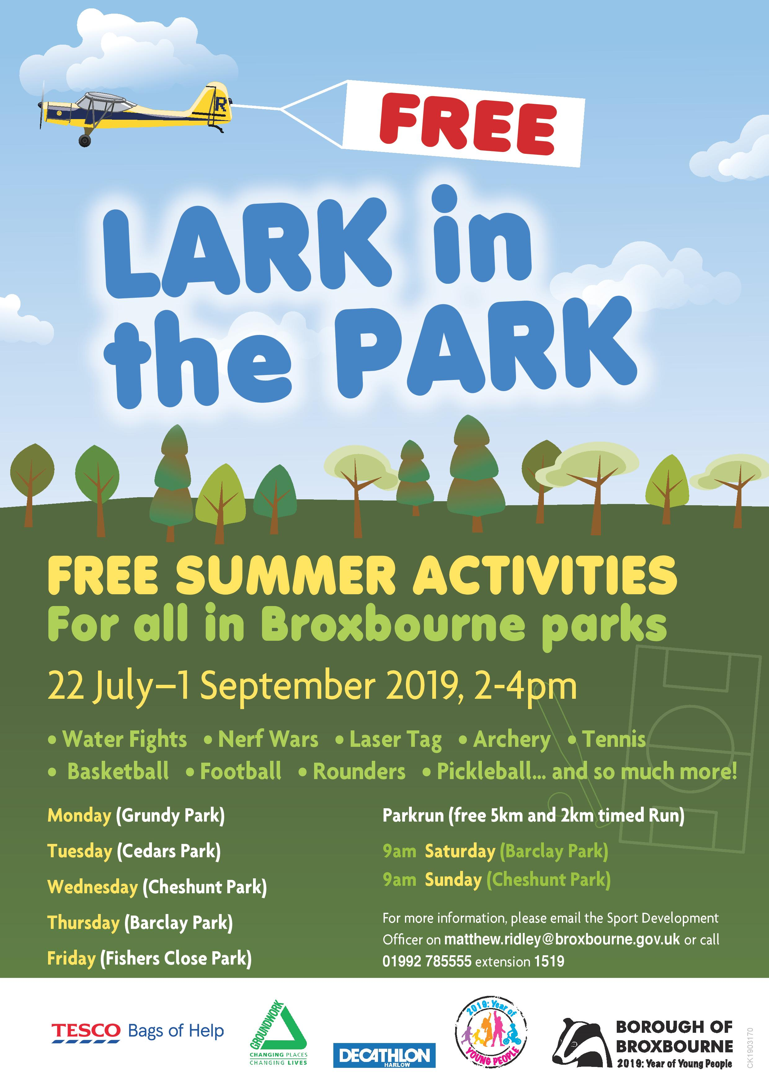Lark in The Park Poster 2019